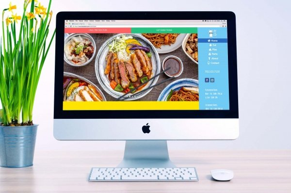 Portfolio - Eat N' Play Cafe website on desktop