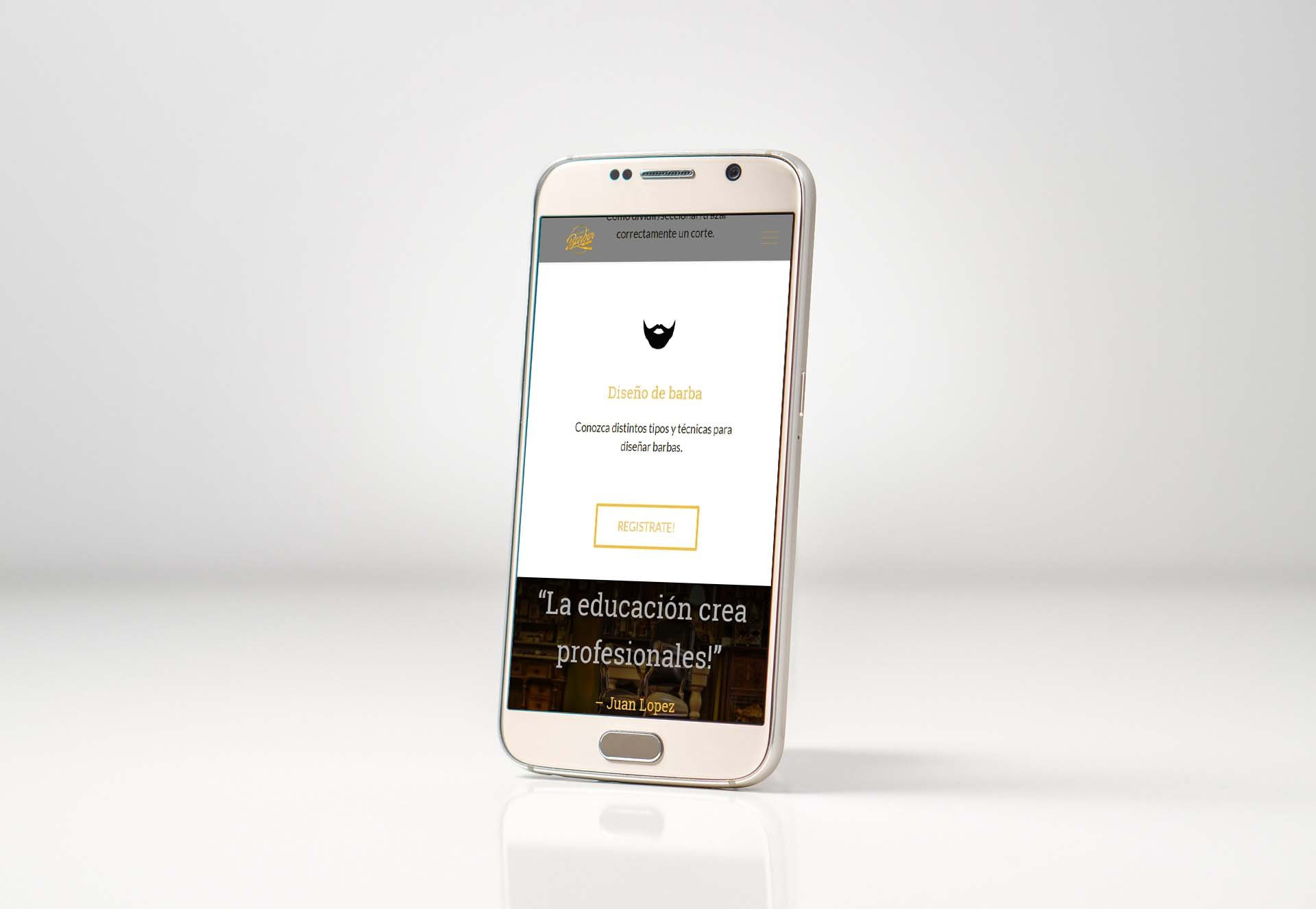 Foro Barber mobile website